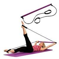 ingrosso cintura di corda di yoga-Cintura donna Yoga Cintura a D Cintura fitness Esercizio Palestra Corda Figura Vita Leg resistenza Fasce Fitness Pinza mano Pinza