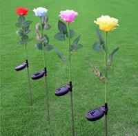 ingrosso fiori di giardino solare potenza-Giardino all'aperto 1LED luci a LED alimentate a energia solare del giardino del puntino del fiore per la decorazione di via di Natale dell'iarda del patio
