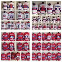 maurice richard hockey jersey großhandel-Jahrgang CCM Montréal Canadiens Patrick Roy Trikot Maurice Richard Carey Preis Guy Lafleur Jean Beliveau Mann und Jugend Hockey Trikots