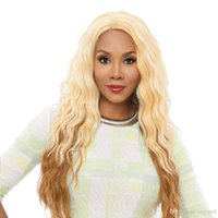 Wholesale big deep wave wigs for sale - Group buy Fashion Ombre Long Curly Wig Centre Parting Synthetic Hair Big Wavy Cosplay Wig for Women Halloween Costume