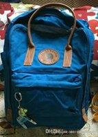 Wholesale fox bag man resale online - New Arrival Arctic Fox Leather Canvas Bag Art Sports Outdoor Orange Crimson Blue Green Backpacks Men Women Online