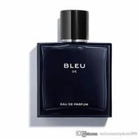 parfums pour hommes achat en gros de-BLEU parfums parfums hommes 100ml Vaporisateur de parfum EDT Parfum de marque de bonne qualité Parfum de longue durée Envoi gratuit