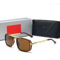 gafas aviador para hombre al por mayor-La calidad de la concha de la vendimia para hombre de gafas de sol de marco de metal vidrios de los vidrios Aviadores deportes de las mujeres gafas de sol polarizadas UV con la caja