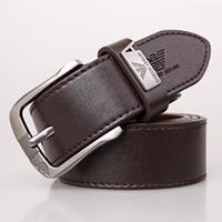nadeln schwarz großhandel-Neue Art Männer Nadel Schnalle einfache Art und Weise beiläufige Leder schwarz Gürtel Außenhandel Marke Gürtel
