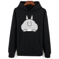 sevimli çiftler giysileri toptan satış-Totoro Hoodies Erkekler Sevimli Funy Streetwear Uzun Kawai Kazak Erkek Kadınlar Kapşonlu Çift Moda Boy Giyim Için