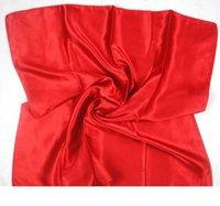 мусульманские перчатки оптовых-бренд 18 цветов твердые конфеты цвет 90*90 см квадратный шелк чувство район шарф, шейный платок шарфы головной платок хиджабы 2 шт. лот