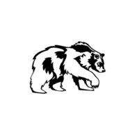 rosa blaue bärenkarikatur großhandel-Tier Grizzlybär Auto Fenster Vinyl Aufkleber Aufkleber Coole Grafiken Heckscheibe Auto Aufkleber