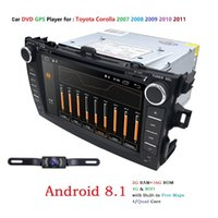 Wholesale android car dvd for toyota corolla resale online - For Toyota Corolla Android Quad core Din Car DVD stereo GPS with Capacitive screen WIFI G radio Mirror link DVB T