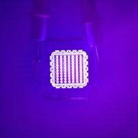 bombilla uv de alta potencia al por mayor-10w 30w 50w 100w llevó la luz UV 45mil Cuentas de luz ultravioleta bombilla LED de alta potencia de UV a 365 nm 375 nm 385 nm 395 nm 405 nm LED ultravioleta