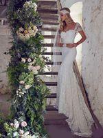Wholesale fish mermaid wedding gown resale online - Cap Sleeve Sweetheart Mermaid Wedding Dresses Bridal Gowns with Sexy Open Back Fish Tail Lace Wedding Dress Abiti Da Sposa Gelinlik