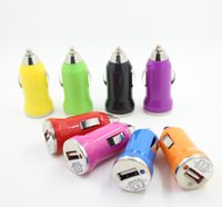 Wholesale socket moto for sale – best Hot Colorful Mini USB Car Charger V A Portable Charger Adapter Socket For iPhone Samsung Huawei Moto
