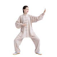 tai chi se adapta a las mujeres al por mayor-Wushu Kung Fu de mujer, estilo chino, traje de Tang tradicional, conjuntos unisex de artes marciales de Tai Chi, ropa de ejercicio uniforme