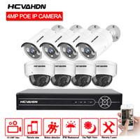 xmeye cctv großhandel-HCVAHDN 8CH 5MP POE NVR Xmeye CCTV-System 4.0MP Indoor Outdoor PoE-IP-Kamera IR-Nachtsicht Videosicherheitsüberwachungs-Kits