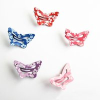 носовой платок оптовых-1PC 5 Color Bow Butterfly Hair Clips Girls' Hair Grips Kids Hairpin Headwear Fashion Clip Accessories Best Gifts for Girls