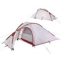 outdoor zelt zimmer großhandel-NatureHike 3-Mann-großes Campingzelt im Freien Ultraleicht ein Schlafzimmer ein Wohnzimmer Lagerzelte MMA2176