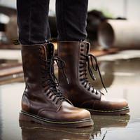 botines con cordones al aire libre al por mayor-Hombres botines al aire libre casual con cordones zapatos moda primavera otoño botines oxfords gladiador patchwork sapato feminino chaussure