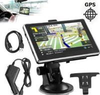 3d gps haritaları toptan satış-5 Inç 3D GPS Navigasyon Araba Kamyon Navigator 8 GB FM SAT NAV 2018 yeni harita