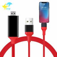 kablo mhl samsung toptan satış-MHL HDMI Adaptörü Dönüştürücü Mikro USB C Tipi HDMI 1080 P HD TV Kablosu Samsung S8 ip5 / 6/7 Android HDTV TV Dijital AV