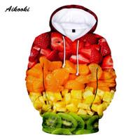 survêtement hommes cool achat en gros de-Aikooki Fruit Hoodies Hommes / Femmes Sweats À Capuche Sweats À Capuche Hommes Drôle Sweet Fruit Polluvers Cool Conception Survêtement Womens Sportwear