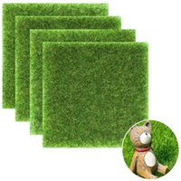 Wholesale mini grass plant resale online - Artificial Fake Moss Micro Landscape Decoration DIY Mini Fairy Garden Simulation Plants Decorative Lawn Turf Green Grass