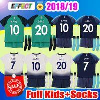 e50c35449 18 19 KANE kids soccer Jerseys Kits 2018 2019 Spurs Son Alderweireld Eriksen  Dele HOME Child Boy Football Shirts Full Sets with Socks