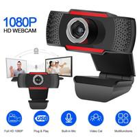 Wholesale full hd tablets resale online - USB Computer Webcam Full HD P Webcam Camera Digital Web Cam With Micphone For Laptop Desktop PC Tablet Rotatable Camera
