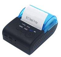 mini-impressora usb venda por atacado-USB e Bluetooth sem fio Mini POS impressora com rolos de papel térmico de 58 mm - 90 mm / seg impressão de alta velocidade (preto) impressoras de recibo móvel