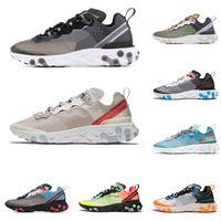 ingrosso uomini arancioni-Nike Epic React Element 87 55 Undercover scarpe da corsa per uomo donna bianco nero NEPTUNE GREEN blu uomo scarpe da ginnastica traspirante sportivo