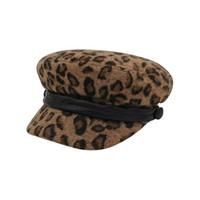Wholesale british style hats women resale online - 2020 New Women Leopard Print Beret Female Flat Flat Cap Hats For Women Newsboy Cap British Style Beret Spring Autumn Style