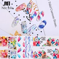 Wholesale art paper sheet for sale - Group buy 1 Sheet Nail Water Decals Colorful Beauty Flower Butterfly Mixed Patterns Nail Transfer Stickers Paper Art Decorations