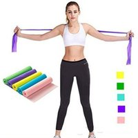 Discount pink resistance bands yoga Pilates Stretch Resistance Band Exercise Fitness Training yoga tension belt Elastic Stretch Band 1200MM