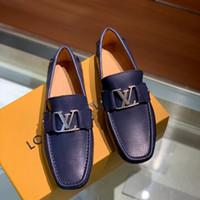 nouveaux robinets achat en gros de-19ss Nlack Bleu De Luxe Hommes Chaussures Haute Qualité Designer Nouvelle Marque Plateforme Chaussures Européen Chaussures Tap Dance Metal Point