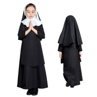 ingrosso costume arancione supereroe-Nun Bambini Cosplay Fancy Dress Cosplay Outfit Costume di Carnevale SM1894