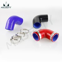 Wholesale silicone hose black resale online - SILICONE HOSES Degree Standard Elbow Hos mm quot inch A3 A4 A5 A6 Q7 degree Clamps black blue red