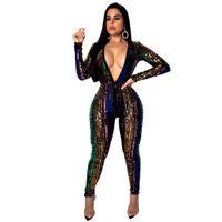 stück barsatz großhandel-Frauen Overalls Sexy Bar Party Frauenkleidung zweiteilig Heiße Art Damen Tops und Hosen