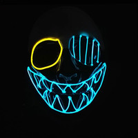 Wholesale carnival supplies for party for sale - Group buy Three Light Modes EL Wire Skull Mask LED Light Up Neon Mask for Halloween Luminous Masquerade Dancing Carnival Party Decoration Supplies