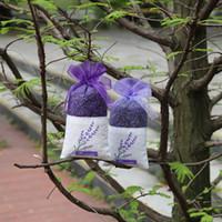 pacote de flores secas venda por atacado-saco de malha roxo Organza Lavender Sachet Bag DIY secas Wedding Party Bag pacote de flor de papel de embrulho Vanilla bagT2I5436