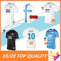camisetas de fútbol de marsella al por mayor-19 20 Olympique de Marseille Camiseta de fútbol 2019 2020 OM Marseille Maillot De Foot PAYET L.GUSTAVO THAUVIN camisetas de fútbol