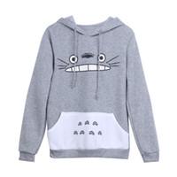 totoro sweatshirts großhandel-Neue Mode Männer Frauen Cartoon Totoro Hoodie Unisex Pullover Sweatshirt
