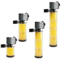 Wholesale sponge filter tank for sale - Group buy SOBO L H L H Multifunction Aquarium Submersible filter Layers Fish Tank Internal Filter with Filter Sponge