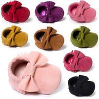 meninos de 12 anos venda por atacado-meninas meninos frete grátis bubuck moda bebê recém-nascido infantis sapatos princesa bebê idades 0 ~ 18 month.CX15C