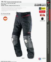 Wholesale race titanium alloys for sale - Group buy KOMINE PK712 Leather Trousers Titanium Alloy Racing Pants Motorcycle Pants Summer Riding