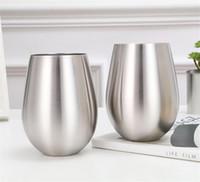 koksgläser groihandel-New 18oz Bottomless Champagne Bierbecher 304 Edelstahl Eierbecher Wasser Coke Tassen Kaffee-Milch-Glas-WXX8