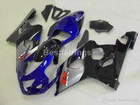 Wholesale gsxr abs motorcycle fairing resale online - Motorcycle ABS fairing kit for SUZUKI GSXR600 GSXR750 blue silver black GSXR K4 K5 fairings FG43