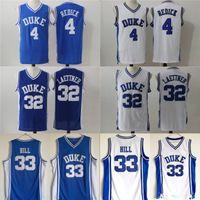 c3f0e0c1d55f NCAA Männer Duke Blue Devils-Trikot 33 Grant Hill 4 JJ Redick 32 Christian  Laettner blau weiß Alle genähten College Basketball-Trikots Günstige