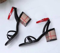 Wholesale womens chunky heel dress shoes for sale - Group buy Hot Sale Fashion New Womens Chunky High Heel Sandals Summer Pumps Party Ankle Strap Dress Genuine Leather Ladies Slip On Shoes