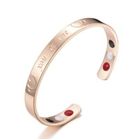 Wholesale infrared bracelet resale online - The new couple my love rose gold magnetic and copper jewelry infrared mouth care bracelet female factory direct sale