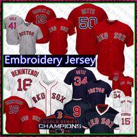 ingrosso baseball 15-50 Mookie Betts Red Sox Jersey Boston 16 Andrew Benintendi 34 David Ortiz 9 Ted Williams 28 JD Martinez 15 Pedroia Baseball jkhkhj