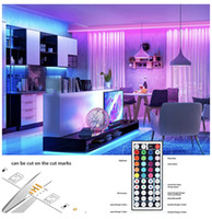 12v dc led ışık şeritleri toptan satış-Ultra bright Light LED Strip Lights RGB 16.4Ft 5M SMD 5050 DC12V Flexible les strips lights 50LED meter 16Different Static Colors