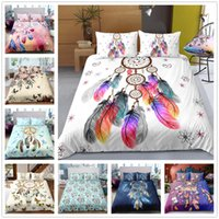 Wholesale stripe comforter resale online - Dreamcatcher Style Bedding Set for Home Textile High Quality Comforter Cover Set Single Double King Size Home Bedclothes
